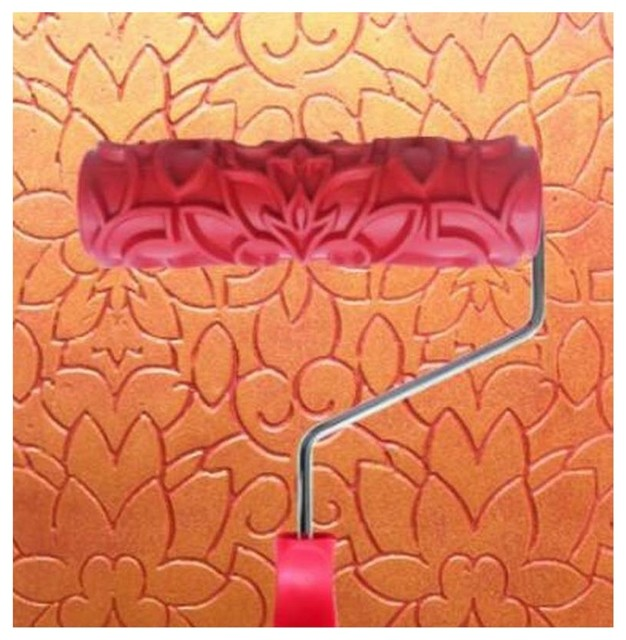 Embossed Paint Roller Wall Painting Runner Wall Decor DIY tool, Pattern 11