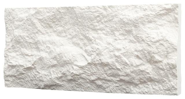 Thin Gypsum Stone-Look Wall Decor Euroc White, Sample.