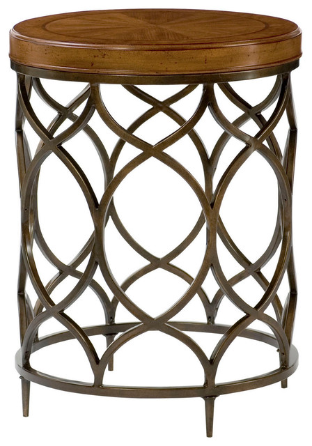 Hammary Hidden Treasures Round Lamp Table Traditional Side Tables And End