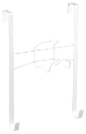 Over The Door Ironing Board Caddy, White.
