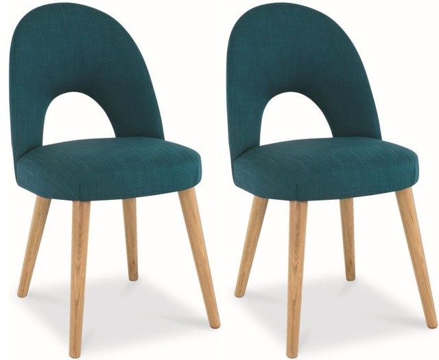 Bentley Designs Oslo Oak Dining Chair Teal Fabric  : traditional dining chairs from www.houzz.com.au size 640 x 524 jpeg 42kB