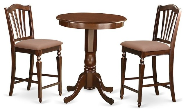 3-Piece Pub Table Set, Pub Table And 2 Kitchen Dining Chairs.