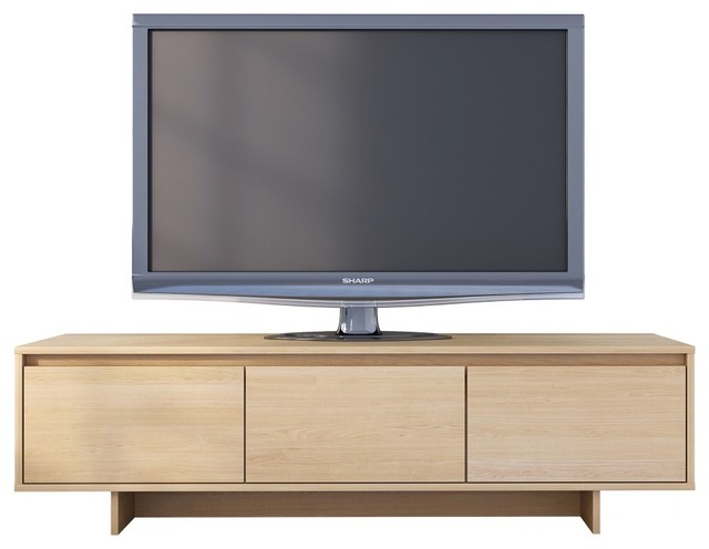"Rustik 60"" Tv Stand, Natural Maple."