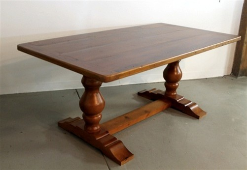 Tuscany Style Trestle Base Farm Table Farmhouse