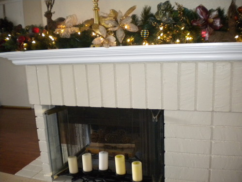 I have a wrap-around fireplace mantel that is giving me a problem.