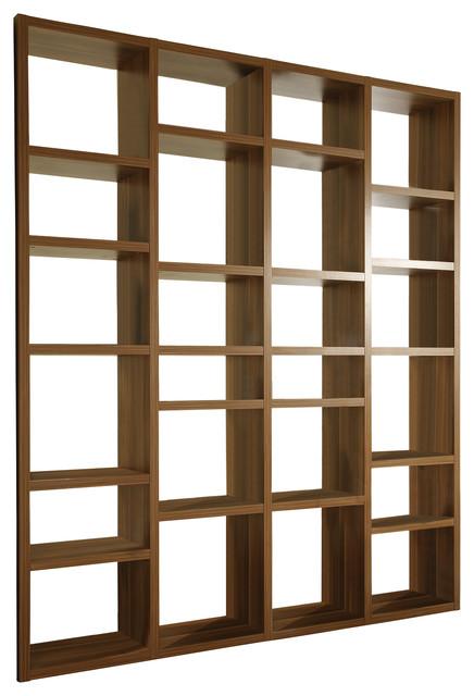 Torero Walnut Bookcase/Room Divider