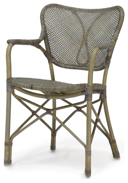 Palecek Jordan Chair Gray Arm  sc 1 st  Houzz & Palecek Jordan Chair - Beach Style - Dining Chairs - by Seldens ...