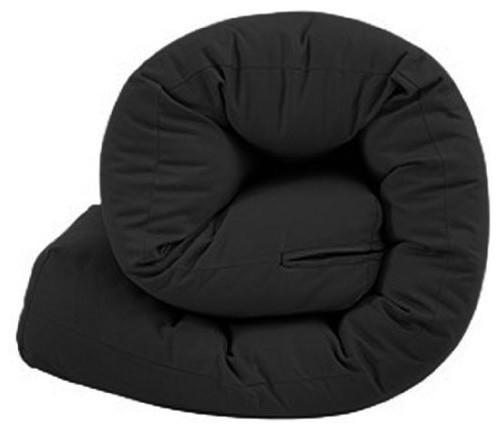 Triple 3 Seater Futon Mattress With Black Cotton Twill Cover