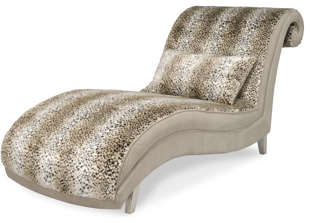 Aico Hollywood Swank Open Curl Back Jaguar Chaise.