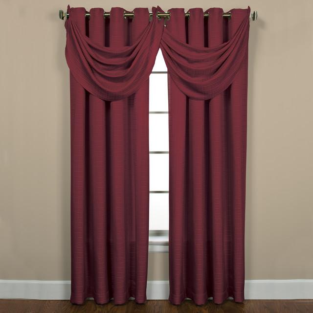 Sutton Grommet Bourdeaux Curtain Panel Pair