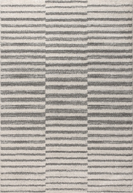 Lyla Offset Stripe Area Rug Contemporary Area Rugs By Jonathan Y