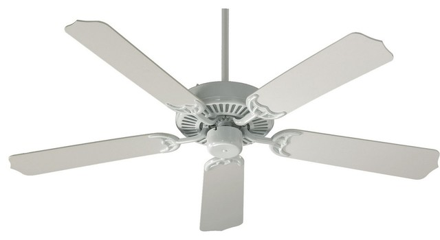 Quorum Capri I 52 Inch 5-Blade Indoor Ceiling Fan In White.