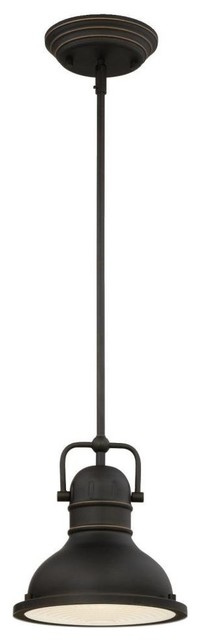 1-Light Mini Pendant, Oil Rubbed Bronze Finish.