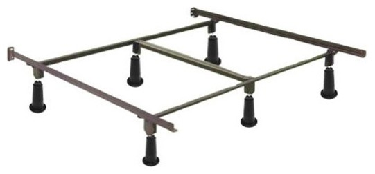 Heavy Duty High Rise Metal Bed Frame With Headboard Brackets, King Size.
