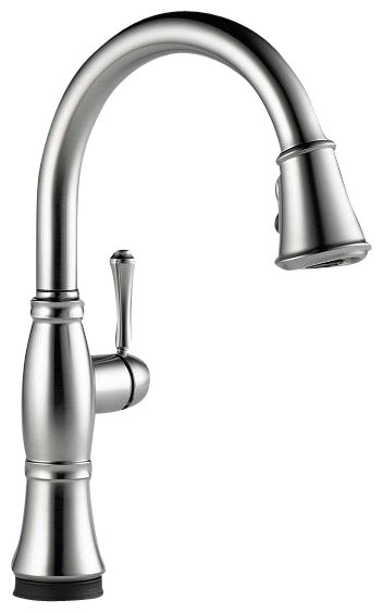 Cassidy Single Handle Pull-Down Kitchen Faucet, Touch2O(R), Stainless Steel
