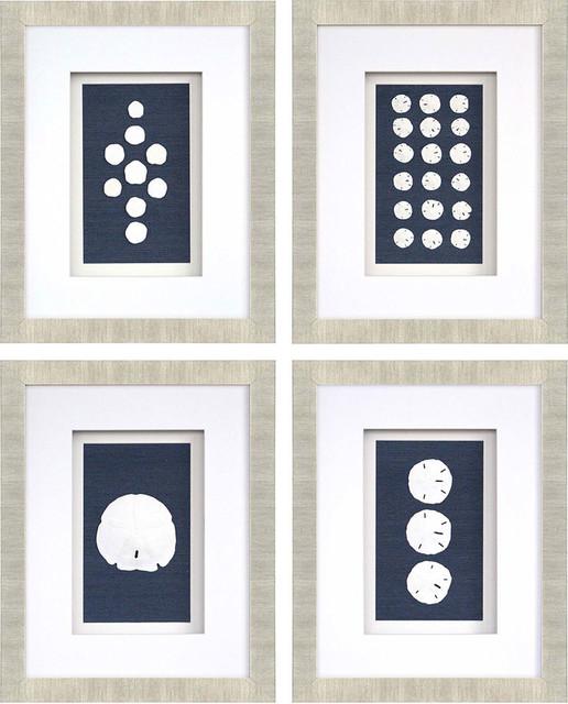 """Sand Dollars"" 4-Piece Artwork Set"
