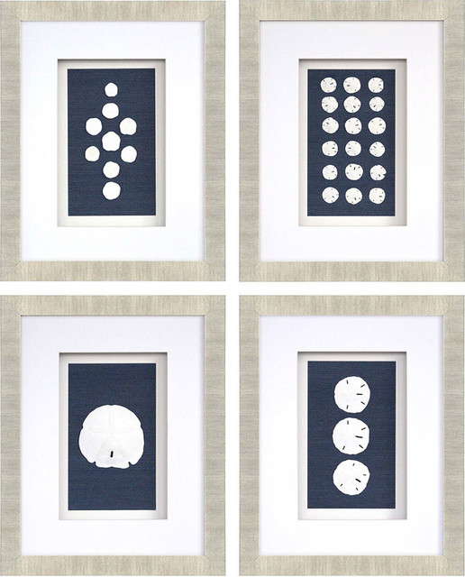 """sand Dollars"" 4-Piece Artwork Set."