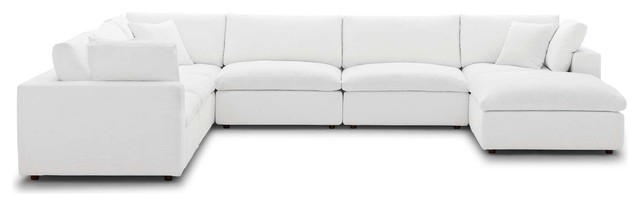Commix Down Filled Overstuffed 7 Piece Sectional Sofa Set ...