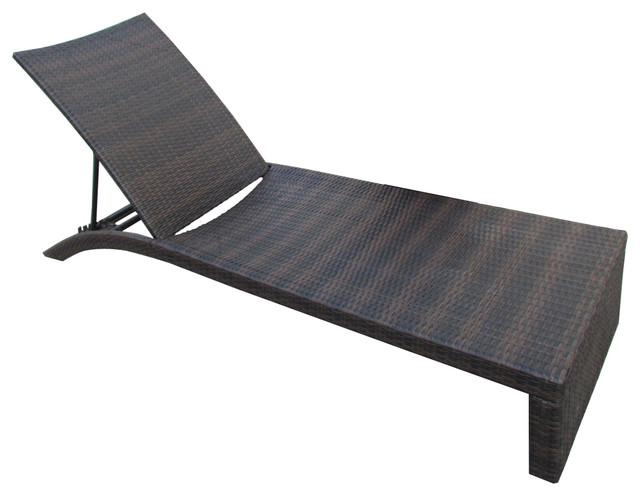 Lenci Chaise Lounge Brown Contemporary Outdoor Lounge Chairs By GDFStudio