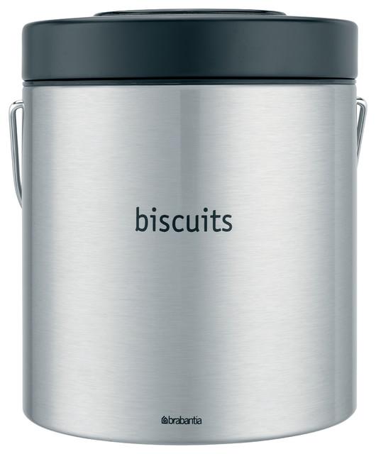 Modern Kitchen Jars brabantia biscuit barrel, matte steel (fingerprint proof) - modern