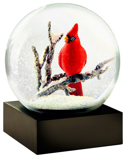 Coolsnowglobes Cardinal Singing Unique Glass Beautiful