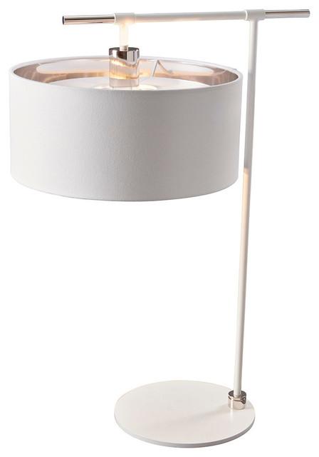 Balance Modern Table Lamp, White