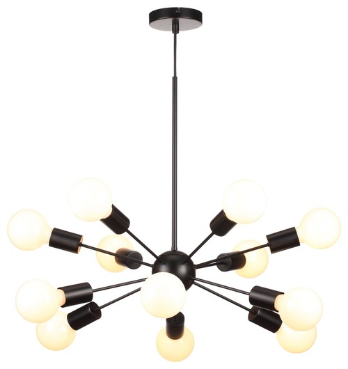 Houzz: Mega Junction Contemporary Black Chandelier
