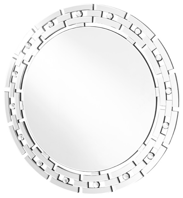 Sparkle 36 Quot Contemporary Round Mirror Clear