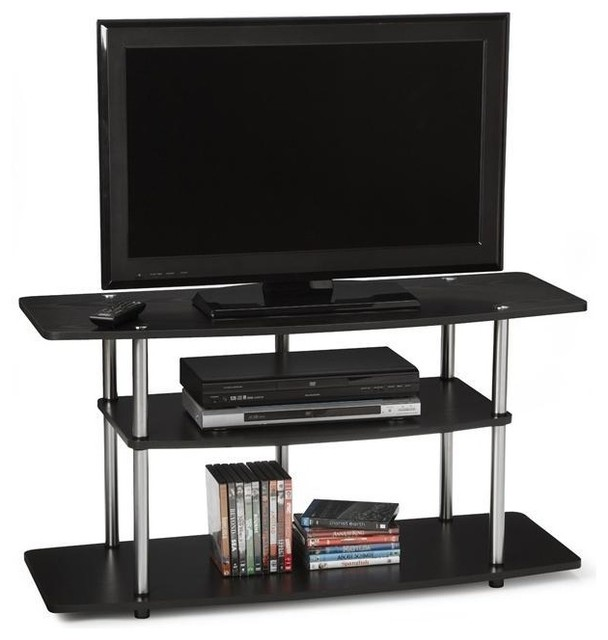 3 Tier Flat Screen Tv Stand In Black