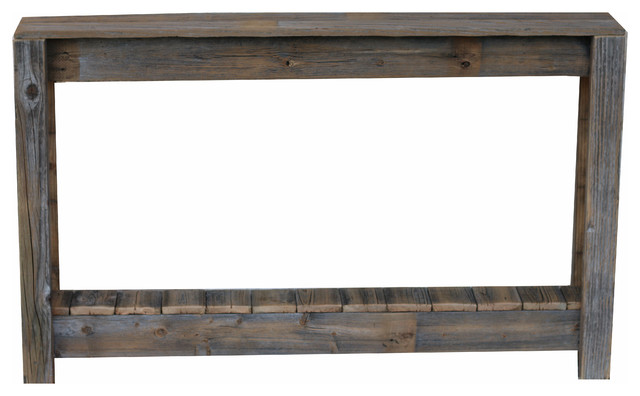 "46"" Rustic Console, Natural."