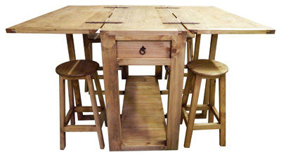 Beau Drop Leaf Island With Stools