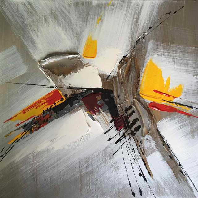 Wall Decor Painting Meeting on Monday Morning Abstract