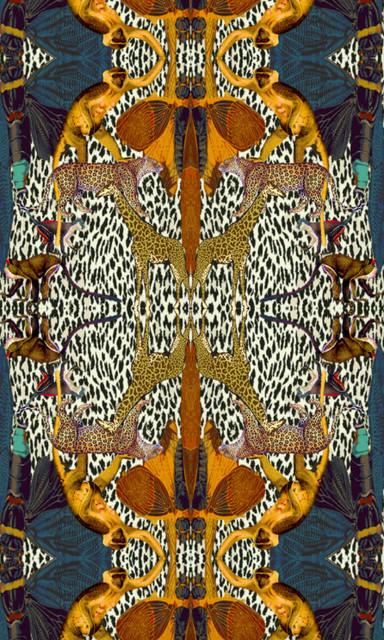 Animal Print Velvet Fabric