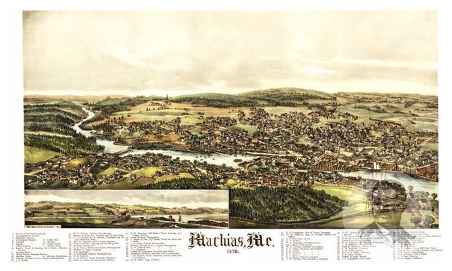 24x36 Vintage Reproduction Historic Map Sanford Maine York County 1889