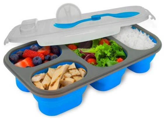 Plastic Portion Perfect Meal Kit 2, Blue.