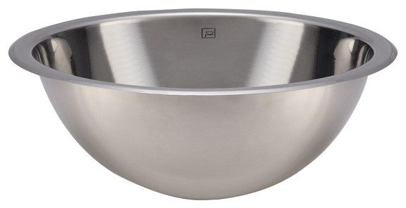 Teanna Stainless Steel Polished Round Drop-in or Undermount Lavatory Sink