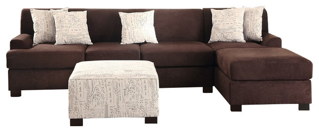 casual sofa sectional chaise and matching accent pillows contemporary sectional sofas by. Black Bedroom Furniture Sets. Home Design Ideas
