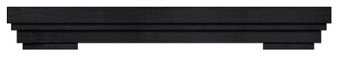 Summit Mantel In Charcoal Finish, 48.