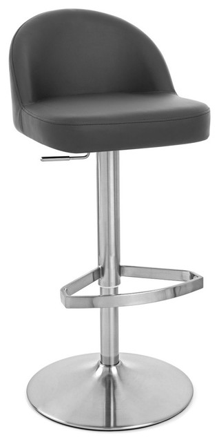 Mimi Adjustable Height Swivel Armless Barstool Contemporary Bar Stools And Counter Stools By Zuri Furniture Houzz