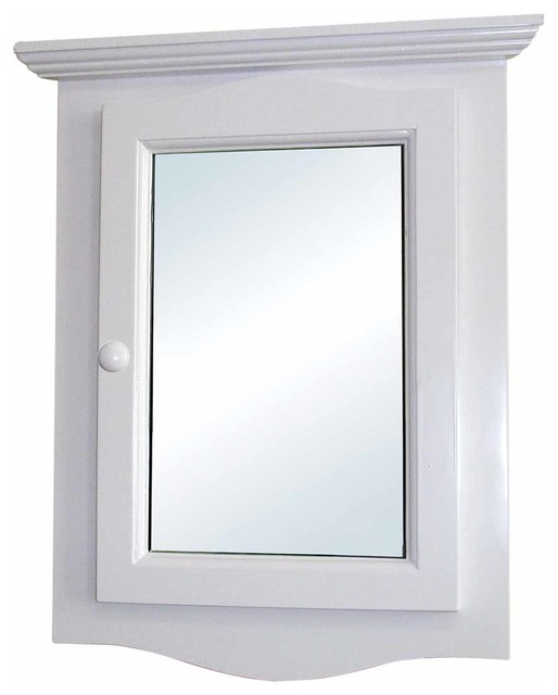 The Renovator's Supply Inc. - Corner Medicine White Wood Cabinet Recessed Mirror - View in Your ...