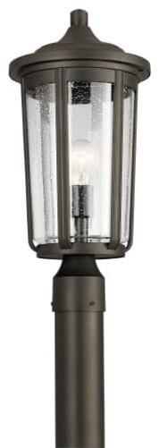 Kichler Fairfield Single Light 19-1/4 Outdoor Single Head Post Light.