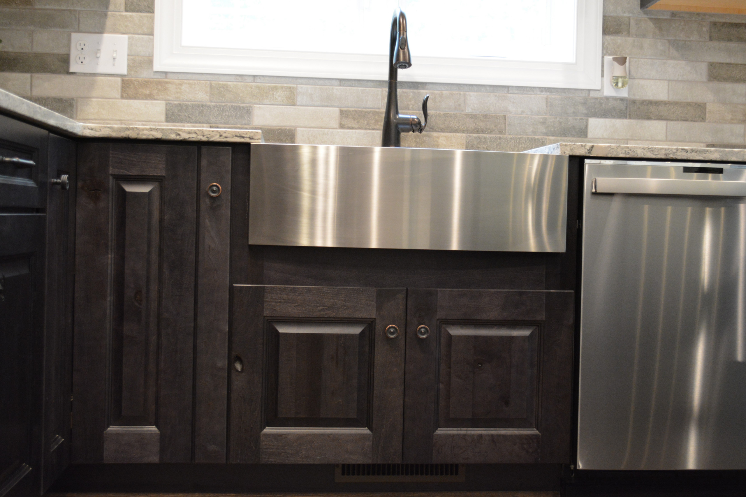 Rustic Maple with Smoke Stain and Ebony Glazing
