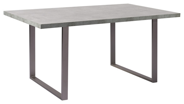 Benedict Contemporary Dining Table With Cement Gray Top.