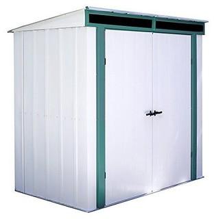 Euro-Lite 6'x4' Shed, Meadow Green, Eggshell and Pent Gable