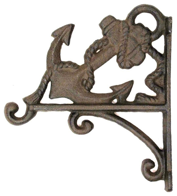 Cast Iron Anchor Plant Holder Nautical Decor