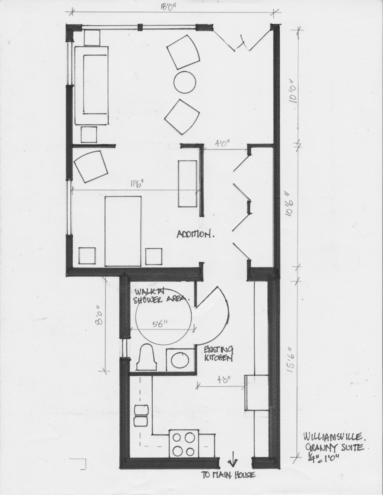 living in place space plans- granny suite addition