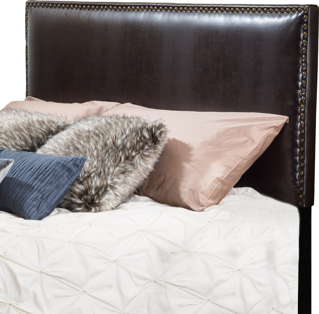 Alonzo Brown Leather Full To Queen Headboard