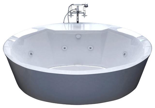 Venzi Sole 34x68 Oval Freestanding Air Amp Whirlpool Water
