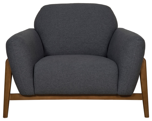 Milo Contemporary Armchair, Dark Grey