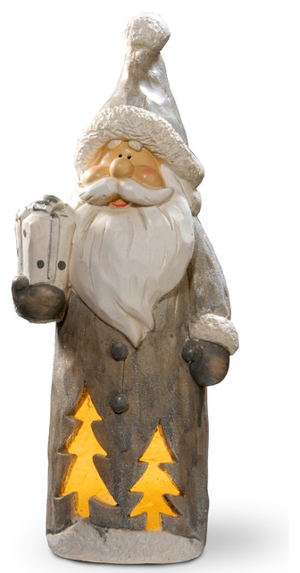 "Lighted Santa Decor Piece, 17""."
